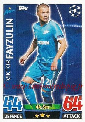 2015-16 - Topps UEFA Champions League Match Attax - N° 261 - Viktor FAYZULIN (FC Zenit)