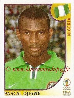 2002 - Panini FIFA World Cup Stickers - N° 406 - Pascal OJIGWE (Nigéria)