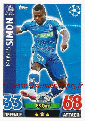 2015-16 - Topps UEFA Champions League Match Attax - N° 322 - Moses SIMON (KAA Gent)