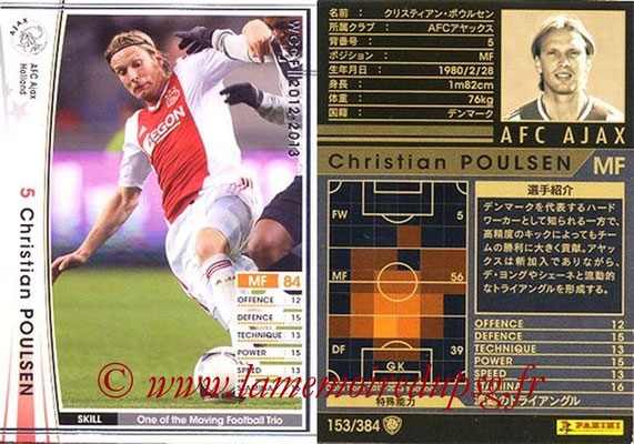 2012-13 - WCCF - N° 153 - Christian POULSEN (AFC Ajax)