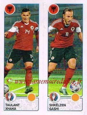 Panini Euro 2016 Stickers - N° 092 - Taulant XHAKA + Shkelzen GASHI (Albanie)