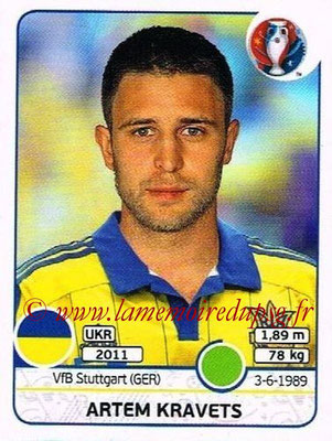 Panini Euro 2016 Stickers - N° 291 - Artem KRAVETS (Ukraine)
