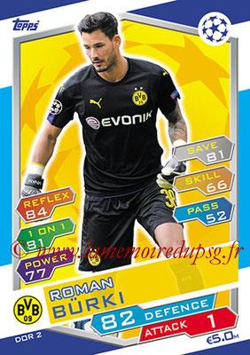 2016-17 - Topps UEFA Champions League Match Attax - N° DOR2 - Roman BURKI (Borussia Dortmund)