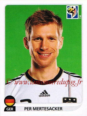 2010 - Panini FIFA World Cup South Africa Stickers - N° 262 - Per MERTESACKER (Allemagne)