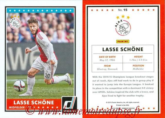 2015 - Panini Donruss Soccer - N° 015 - Lasse SCHÖNE (AFC Ajax)