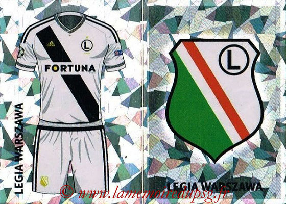 2016-17 - Topps UEFA Champions League Stickers - N° QFE 1-2 - Logo + Maillot Domicile (Legia Varsovie)