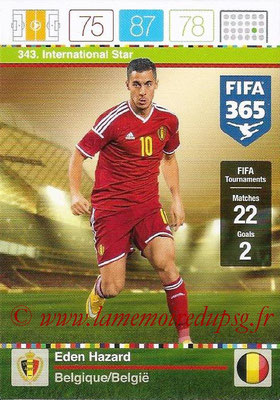 2015-16 - Panini Adrenalyn XL FIFA 365 - N° 343 - Eden HAZARD (Belgique) (International Star)