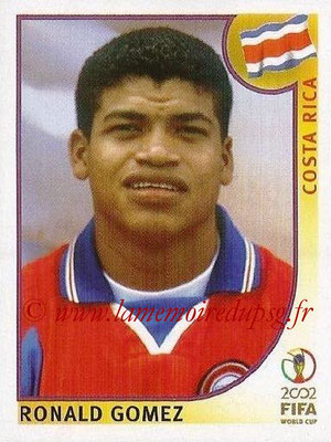 2002 - Panini FIFA World Cup Stickers - N° 240 - Ronald GOMEZ (Costa Rica)
