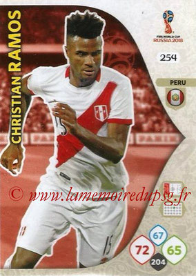 2018 - Panini FIFA World Cup Russia Adrenalyn XL - N° 254 - Christian RAMOS (Perou)