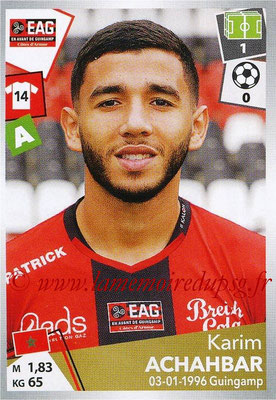 2017-18 - Panini Ligue 1 Stickers - N° 147 - Karim ACHAHBAR (Guingamp)