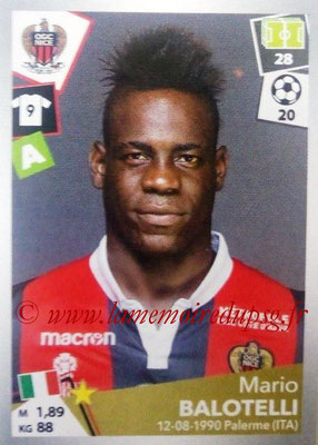2017-18 - Panini Ligue 1 Stickers - N° 355 - Mario BALOTELLI (Nice)