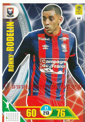 2017-18 - Panini Adrenalyn XL Ligue 1 - N° 064 - Ronny RODELIN (Caen)