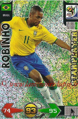2010 - Panini FIFA World Cup South Africa Adrenalyn XL - N° 052 - ROBINHO (Bresil) (Star Player)