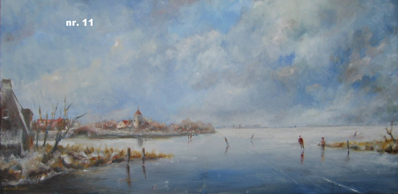 nr. 11 Koude ochtend op een bevroren meer