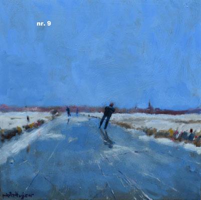 nr. 9 Vaart in Alblasserwaard, blauw