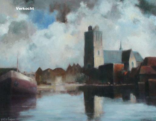 Grote Kerk met Kalkhaven. Verkocht.