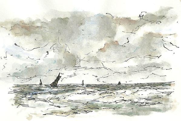 Bootjes op zee