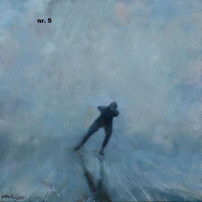nr. 5 Eenzame schaatser, blauw