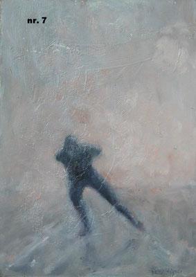 nr. 7 Eenzame schaatser, grijs