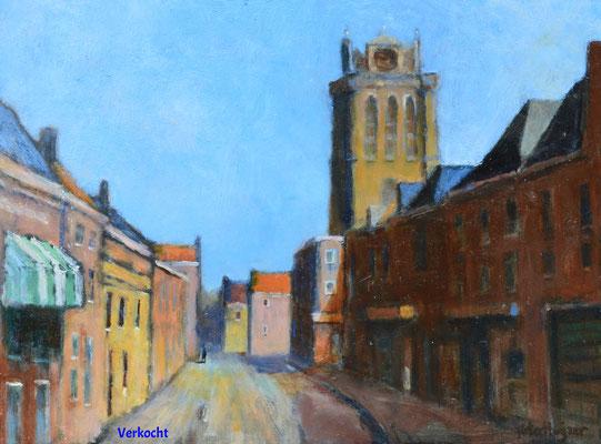 Grote Kerk vanuit de Hoge Bakstraat (verkocht)