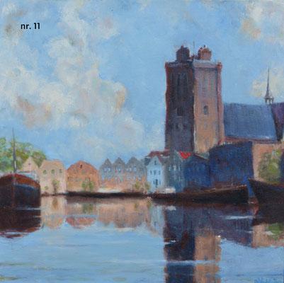 nr. 11 Grote Kerk met Kalkhaven, vierkante kaart