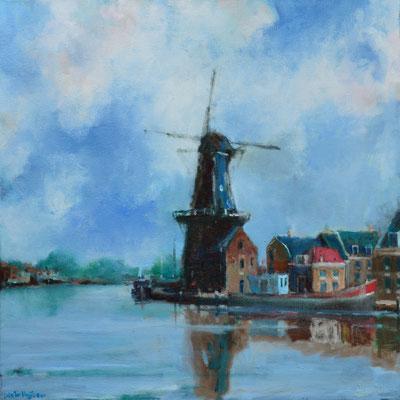 Haarlem, Molen De Adriaan aan het Spaarne (50 cm x 50 cm)