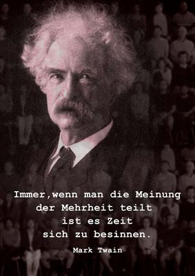 Mark Twain und die Meinungsmehrheit
