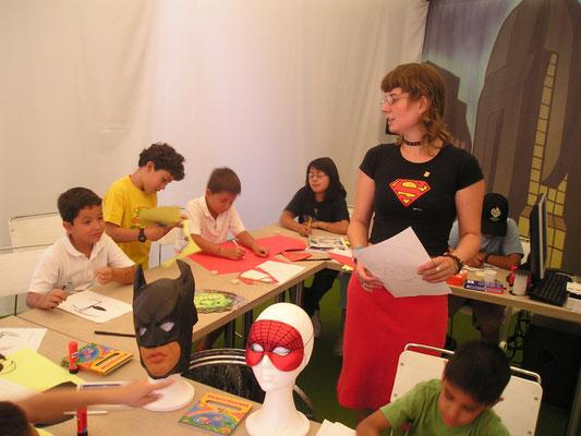 Trabajando en la Tebeoteca con futuros creadores de Cómics