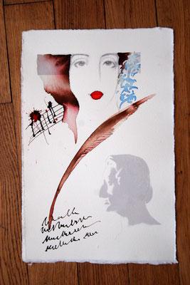 Frédéric Chopin et Georges Sand, dessin, 2009, collection privée