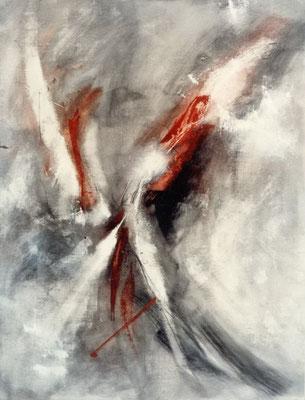 Corine_S_Congiu-1989-B3-Archange-Huile-sur-toile-146x112cm  : Anne-Marie Dédebant «Coups de foudres»