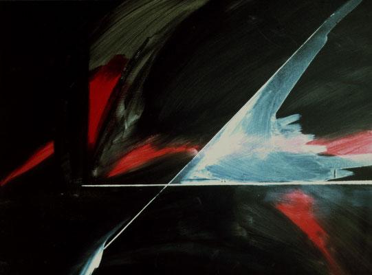 Corine_S_Congiu-1985, Equation à une inconnue-Acrylique sur toile-116x89cm : Sonia Devi : Les cygnes / Nicolette Moya : Splach ! / Lilian Devigne : Le chat et l'oiseau / Mymy Petite Souris : Geofusion