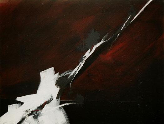 Corine_S_Congiu-1989-acrylique sur toile, -116x89 cm  : Sonia Devi : «High Wire»/ Anne-Marie Dédebant «Haute Tension»