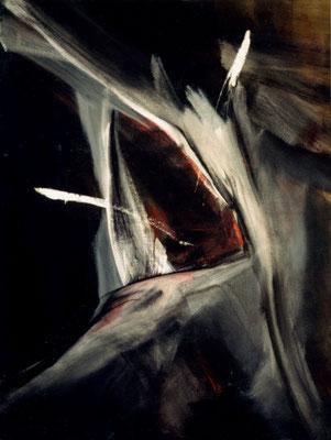 Corine_S_Congiu-1988-Le-cri-Huile-116x89cm : Cassandre Leon «L'opah et l'appât»/ Marc Buschtetz : Les dents de la mer / Cassandre Leon : La chambre du fond  / Mymy Petite Souris : Fracture / Sonia Devi : Les dents de l'amer