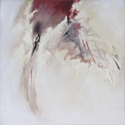 """Corine_S_Congiu-1989-huile sur toile-100cm x 100cm-n°35 : Luc Fritsch : """"M Le Maudit""""-/Sonia Devi «L'Origine de l'Univers»"""