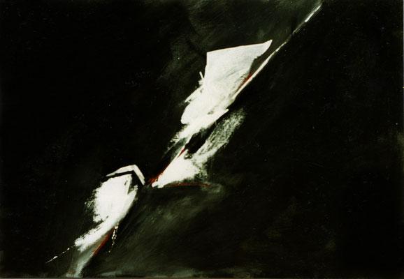 Corine_S_Congiu-1989-acrylique sur toile, -116x89 cm  : Sonia Devi :  «Sabre au clair», Sonia Devi «L'Épanchement»