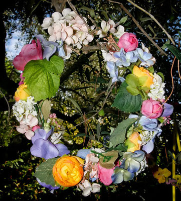 Hortensias, rosas, jazmines, frutos...