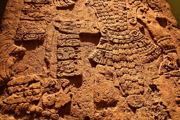 Azteken Hieroglyphen und Bildergeschichten (anthropologisches Museum von Mexiko-Stadt)