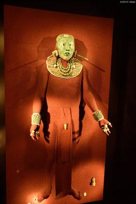 Totenschmuck (anthropologisches Museum von Mexiko-Stadt)