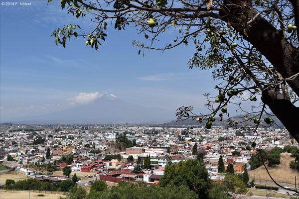 Blick auf den aktiven Vulkan Popocatepetl (5286m)