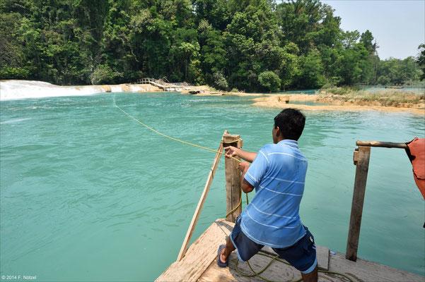 Agua Azul - die blauen Wasserfälle