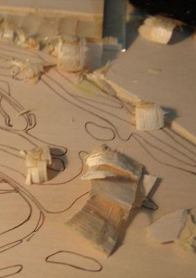Detailansicht vom Holzschnitt