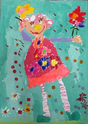 Малкова Маша, 4 года. Клоунесса.