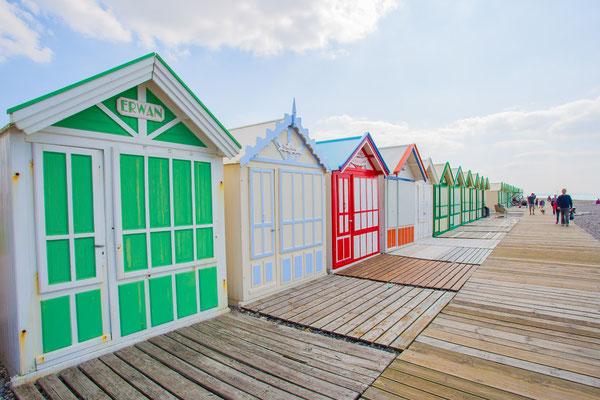 Les cabines de plages à Cayeux