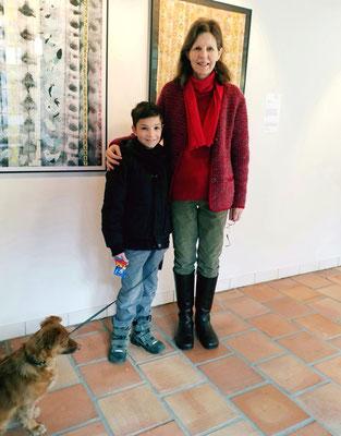 Weil zwei Tage zuvor in China das Jahr des Hundes begonnen hat, hat mich der junge Besucher mit Hund ganz besonders gefreut.