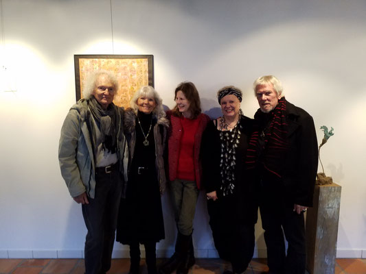 Schlussbouqet; von links: René Schmid mit Partnerin, ich, Nadette Bamert Kissling und Franz-Josef Kissling