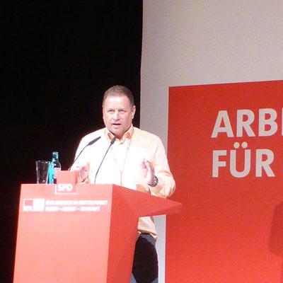 Rede auf einem SPD-Kongress