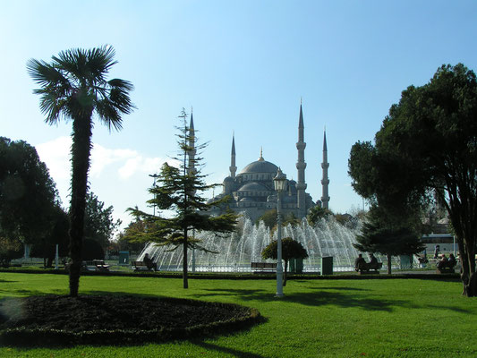 Sultanahmet-Moschee in Istanbul (Türkei)