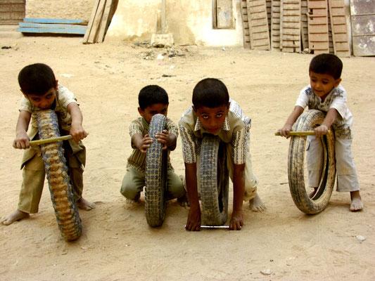 Kinder im Hadramaut (Jemen)