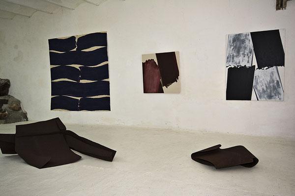 Peintures Serge Fauchier /Sculptures Pierre Tual ©BD-F