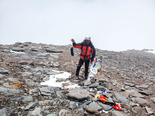Eduardo on the summit of Aconcagua